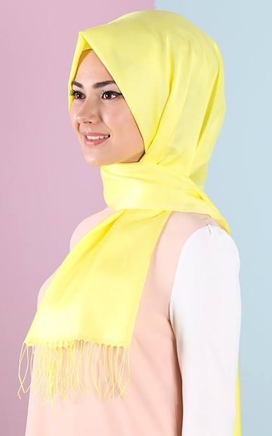 Tesettür Giyimde Sarı Renkli Kıyafetler Nasıl Kombinlenir? - 1